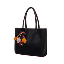 Fashion Womens Bag Handbags Leather Shoulder Bag Candy Color Flowers Large Totes