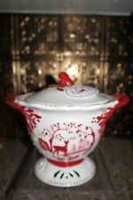 NWT Blue Sky Clayworks WOODLAND COLLECTION Tureen Red