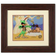 CHUCK JONES Hand Signed Animation Cel ROBIN HOOD Daffy Duck Porky Pig COA Bugs