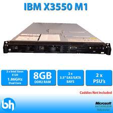 IBM X3550 M1 Server Intel Xeon Dual Core 5120 1.86Ghz + 8GB + Überfall