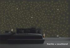 Wandtattoo, Leuchtsterne & Leuchtpunkte 380 Stück, Sternenhimmel, Sterne