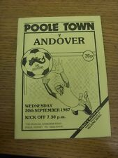 30/09/1987 Poole Town v Andover [Westgate Insurance Cup] . Item appears to be in