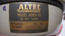 ALTEC LANCING 400X-16 8 INCH FULL RANGE AUDIO SPEAKER 16 OHMS