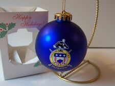 "Galactic 3 Infantry 1784 Noli Me Tangere Patriots! 3"" Blue Glass Ornament MIB"