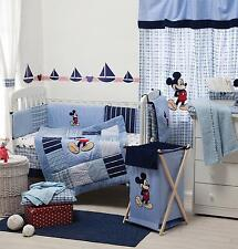 4 PIECE DISNEY MICKEY MOUSE BABY CRIB BEDDING COT SET