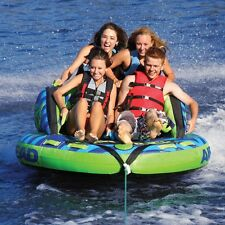 Airhead Switchback Inflatable Water Tube 4 Rider Boat Tow Towable AHSB-4