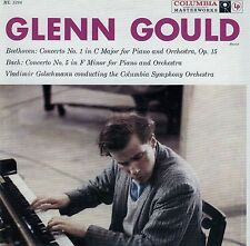 GLENN GOULD : BEETHOVEN - CONCERTO NO. 1, BACH - COCERTO NO. 5 / CD