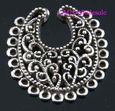 4pcs Tibetan silver pendants earring connectors findings Drop Earrings 28X26.5MM