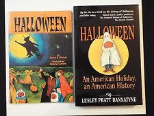 2 Halloween Books:An American Holiday,American History-Bannatyne & Kessel-MINT