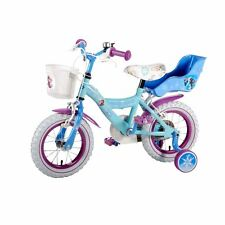 Disney Frozen Bike 12 Inch purple blue young girls toddler first bike Elsa Anna