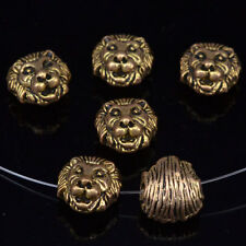 Wholesale 12mm Solid Metal Lion Head For Bracelet Necklace Connector Charm Beads