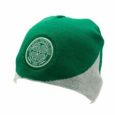 Celtic FC Official Wave Knitted Football Crest Winter Beanie Hat