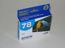 Epson OEM T0782 cyan ink 78 stylus R260 R280 R380 RX580 RX595 RX680 Artisan 50
