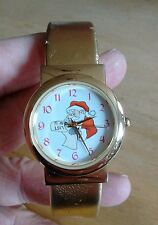 Vintage Santa Claus reading list Kristine ladies watch, running new battery NR A