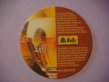 Beer Brewery Coaster ~**~ Biere d'Abbaye LEFFE  *^*  Leuven, Belgium Since 1240
