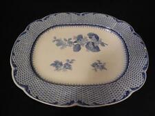 """Vintage Flow Blue China Platter Plate Cauldon England 15.5"""" x 12.5"""" Antique"""
