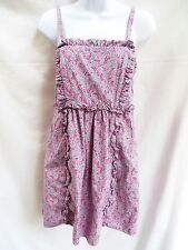 MARC JACOBS Womens Purple Pink Blue Boho Peasant Ruffled Floral Sun Dress 6 M