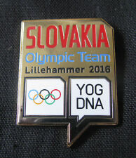 Lillehammer 2016 SLOVAKIA Olympic GAMES NOC Team Delegation RARE dated pin