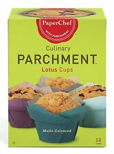 Paper Chef Culinary Parchment Lotus Multi-Color12 per pack 3 packs 36 cups total