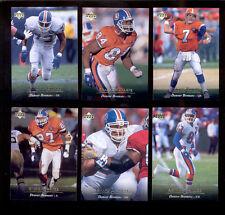 1995 UD Denver Broncos Set JOHN ELWAY SHANNON SHARPE STEVE ATWATER GLYN MILBURN