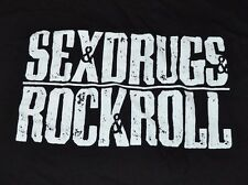 Sex Drugs & Rock & Roll Adult Men's T-Shirt Graphic Tee Size Large