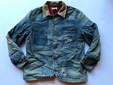 $298 Ralph Lauren Denim Supply Distressed Denim Chore Jacket Coat-MEN- L
