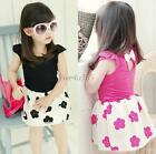 Kids Girl Clothes Princess Dress One-Piece Sleeveless Flower Sundress Skirt 1-6Y