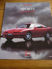TOYOTA SUPRA, CELICA ( 5TH GEN) AND MR2 CAR BROCHURE @1990  jm
