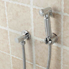Bathroom Toilet Handheld Diaper Sprayer Shower Bidet Shattaf Kit Hose Holder Set