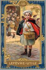 Calendrier Biscuits Lefevre-Utile. 1914. Petit écolier