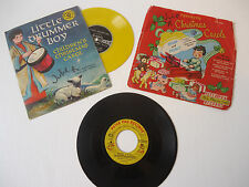 Vtg 50s/60s Lot of 3 CHILDREN'S CHRISTMAS MUSIC 78 RPM RECORDS Yellow Vinyl