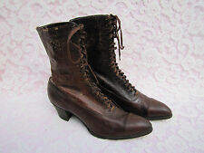 Vintage Antique Ladies Lace Victorian Boots Shoes Arch Preserver Shoe Early 1900