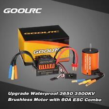 GoolRC Waterproof 3650 3500KV Brushless Motor + 60A ESC for 1/10 RC Car M5J4