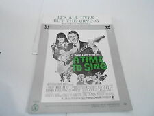 1968 vintage NOS sheet music - ITS ALL OVER BUT THE CRYING - HANK WILLIAMS
