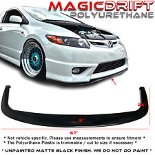 Universal Front Bumper Under Diffuser Wind Blade Racing Valance Splitter Plate