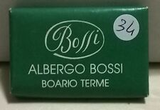 SAPONETTA ALBERGO BOSSI - BOARIO TERME (BS) - RETTANGOLARE gr.14 INCARTATA -N.34