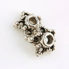 F1865*130Pc Tibetan Silver Carved Star Starry End Beads Caps Spacer Charm Crafts