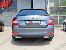 Mv Tuning Covers Imitating Exhaust for Skoda Octavia A7 III Painted