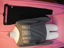VICTORIAS SECRET  ~ VS ~ BOXED GIFT SET ~ SLOUCHY CREW WITH LEGGINGS SMALL