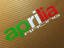 Aprilia RACING en Bandera Colores Bicicleta de pista carretera Carenado Calcomanías Stickers Par # 116