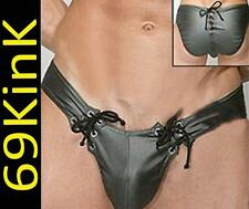 H39 look trempé PVC Catch Homme Supporter Lacet Court tout en un Short Gay