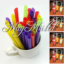 50X Jumbo Drinking Straws  Bubble Pearls Tea Party Drink Smoothie Slush BG