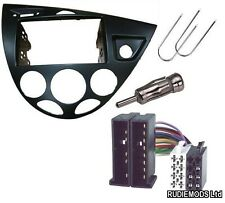Ford Focus Mk1 98-05 Double Din Stereo Facia Adapter kit ISO keys aerial adap.
