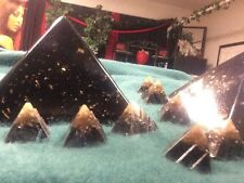 Orgone Prosperity Pyramid House Protectors 1 X-large 10  Small Black