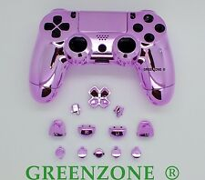 Chrome Pink Full Custom Replacement PS4 Controller Hydro Dipped  Shell Mod Kit