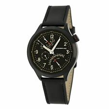 NEW Morphic 4402 Mens M44 Series Dual Time Date GMT Black Strap Black Case Watch