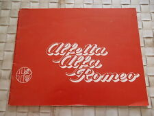 BROCHURE CATALOGUE ALFA ROMEO ALFETTA GT