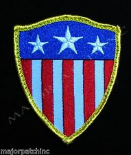 CAPTAIN AMERICA USA FLAG SHIELD ARMY MORALE COLOR VELCRO® BRAND FASTENER PATCH