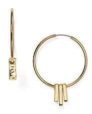 LAUREN Ralph Lauren Gold-Tone Hammered Bar Drop Gypsy Hoop Earrings