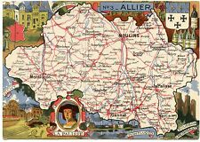 CARTE DU DEPARTEMENT DE L'ALLIER. 03 J.P. PINCHON. BLONDEL DE LA ROUGERIE